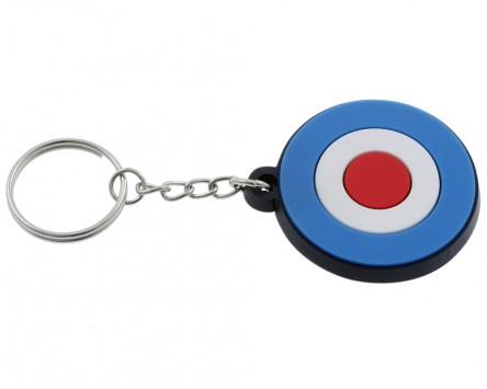 Schlüsselanhänger Target Kunststoff Durchmesser 41mm