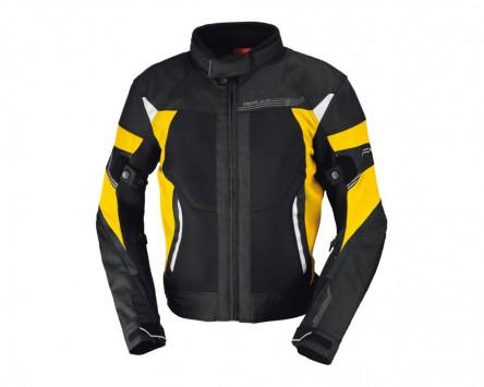 Motorradjacke IXS ZEPHYROS schwarz-gelb Gr.2XL
