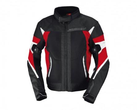 Motorradjacke IXS ZEPHYROS schwarz-rot-weiß Gr.2XL