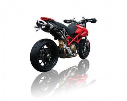 Auspuffanlage ZARD Penta Alu-black für Ducati Hypermotard 796/1100