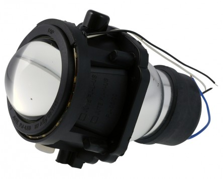 Ellipsoidscheinwerfer H3 Motorrad Abblendlicht mit LED Positionsleuchtenring