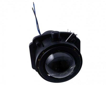 Ellipsoidscheinwerfer H3 Motorrad Fernlicht mit LED Positionsleuchtenring