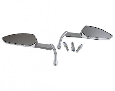 Spiegel STANDARD Motorrad Custom KNIFE, chrom, mit Adapter