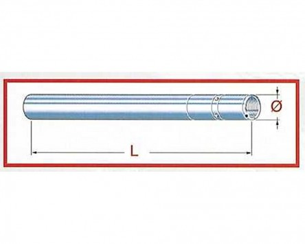 Standrohr Gabel Upside Down Yamaha MT 09, 14, D=41 mm L=588 mm