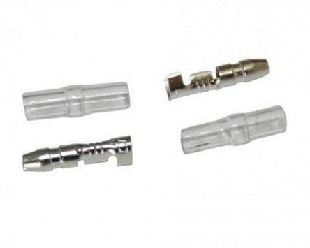 Rundstecker (männlich) D. 3,5 mm mit Isolierung, 100 Teile pro Set