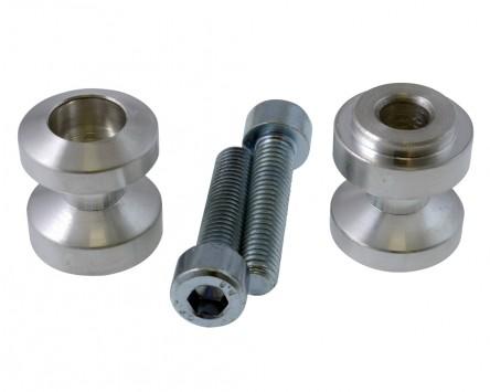 Schwingenadapter für Montageständer MP Bobbins Alu, silber, M8 x 1.25 mm, Paar