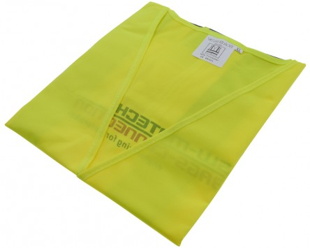 Sicherheitsweste. 100 % Polyester Größe XL, neongelb, zb. für Motorrad