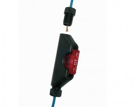 Sicherungshalter für Flachsicherungen für Kabelgrößen von 0,75 - 2 qmm, 2 Stück