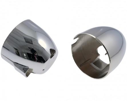 Gehäuseschalen für ori. Tacho und Dzm, chrom, für GSF 600 N/S Bandit, 95-99 Paar