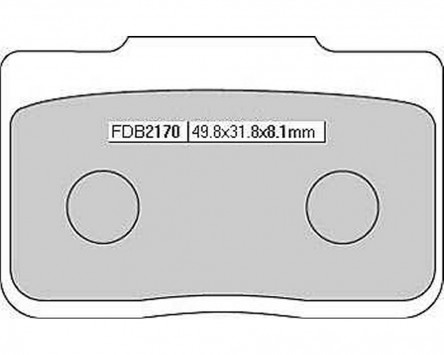 Bremsbeläge / Bremsklötze FERODO FDB 2170 P