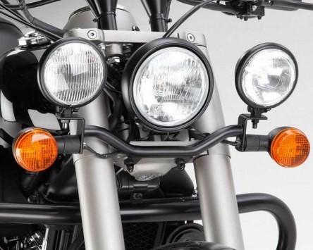 Lampenhalter für Zusatzscheinwerfer, schwarz, Honda VT 750 C Black Spirit 2010-