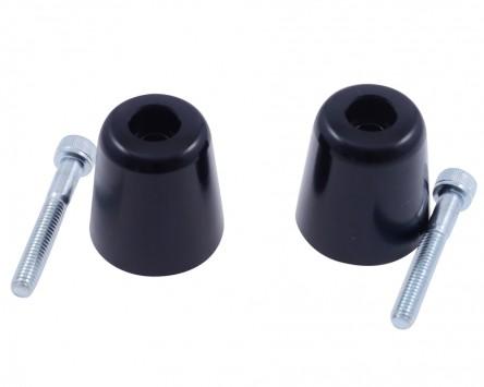 Lenkergewicht, Alu, schwarz, für diverse Suzuki Originallenker, Paar