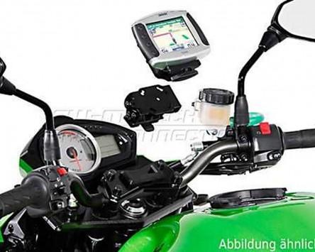 GPS / Navi Halter QUICK-LOCK. Vibrationsgedämpft. Kawasaki Versys 650, 07-