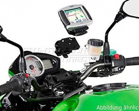 GPS / Navi Halter QUICK-LOCK. Schwarz. Vibrationsgedämpft. BMW F 800 ST, 06-12