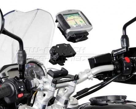 GPS / Navi Halter QUICK-LOCK. Schwarz Vibrationsgedämpft Triumph Tiger 800, 11-