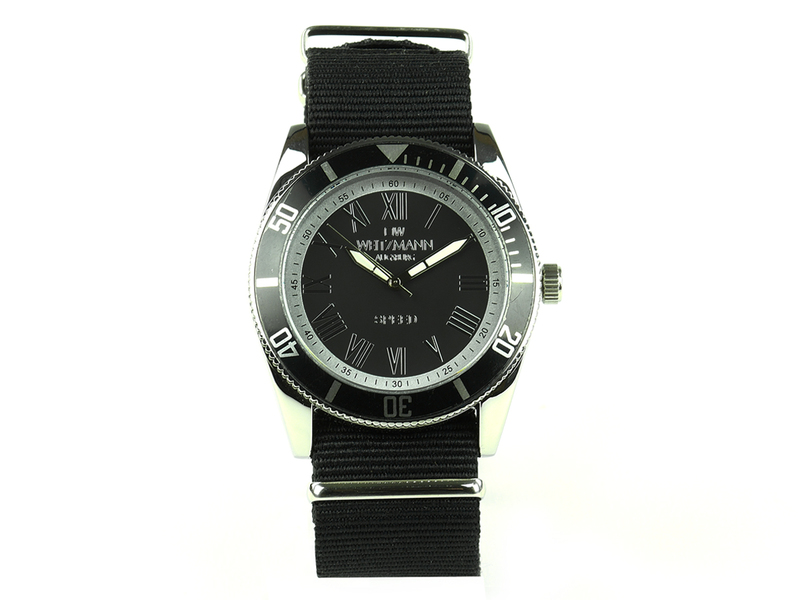 Speed, aktuelle Unisex Armband-Uhr, unifarbenes Natoband schwarz