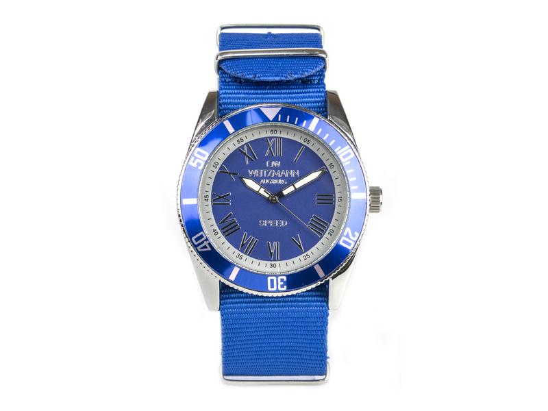 Speed, aktuelle Unisex Armband-Uhr, unifarbenes Natoband blau