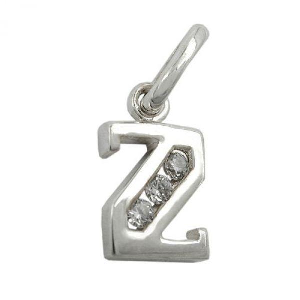 Anhänger, Buchstabe Z mit CZ Silber 925