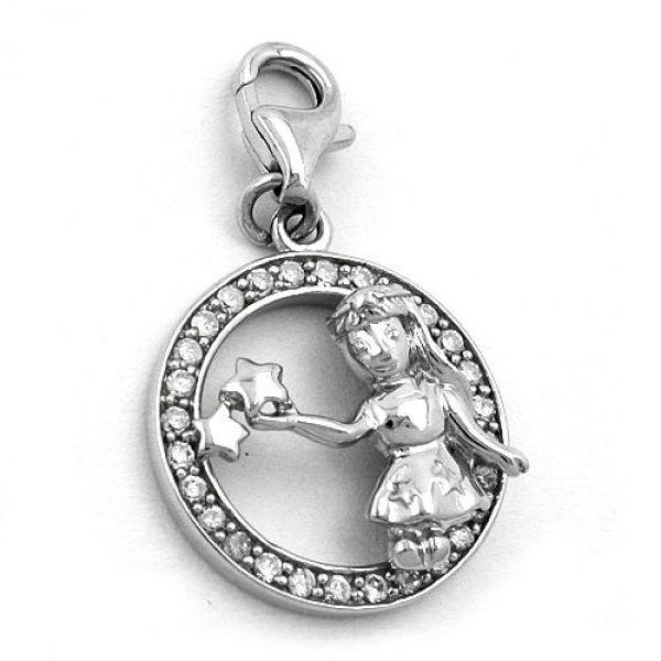Anhänger, Charm Jungfrau, Silber 925