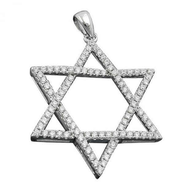 Anhänger, David-Stern, Silber 925