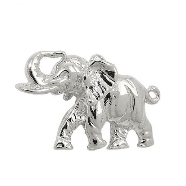 Anhänger, Elefant massiv, Silber 925