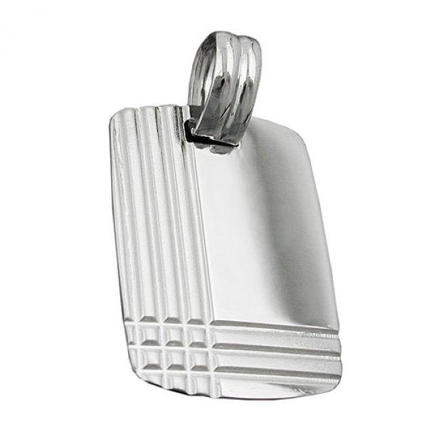 Anhänger, Gravurplatte, Silber 925