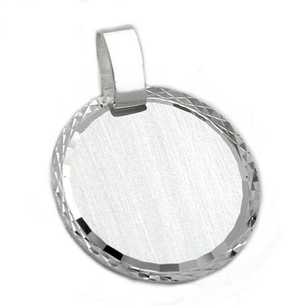 Anhänger, Gravurplatte matt, Silber 925