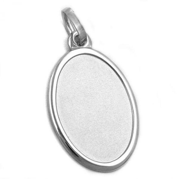 Anhänger, Gravurplatte oval, Silber 925