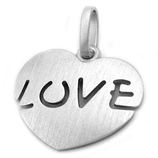 Anhänger, Herz LOVE, Silber 925