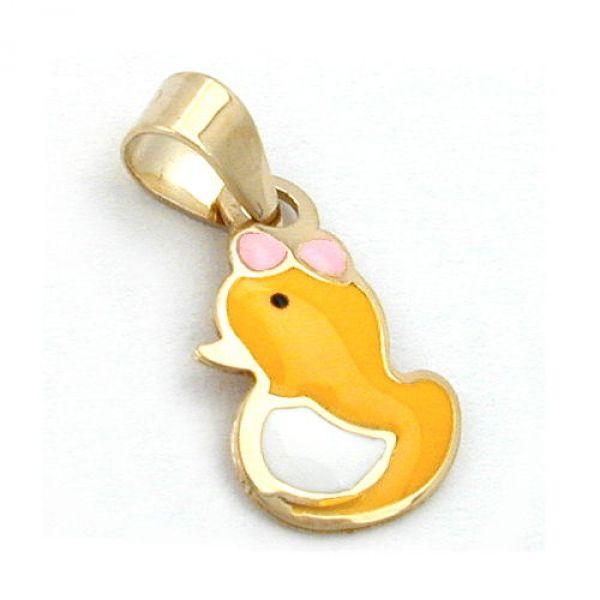 Anhänger, kleine Ente, 9Kt GOLD