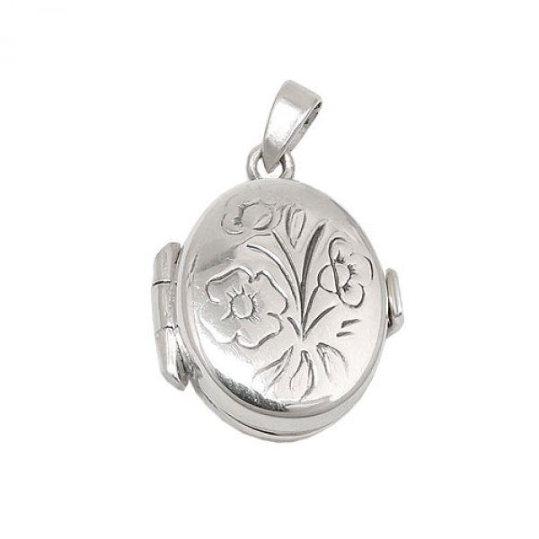 Anhänger, kleines Medaillon, Silber 925