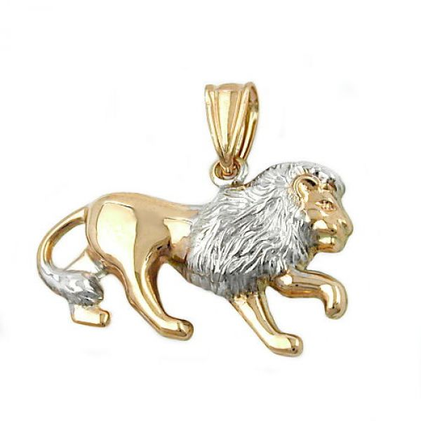 Anhänger, Löwe matt-glänzend, 9Kt GOLD