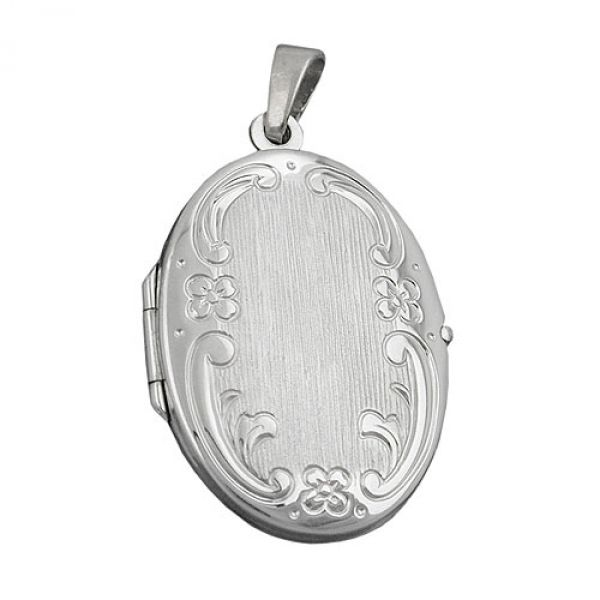 Anhänger, Medaillon oval, Silber 925