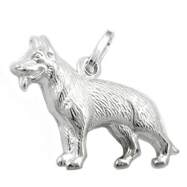 Anhänger, Schäferhund, Silber 925