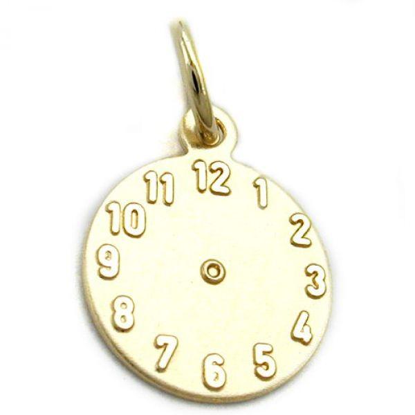 Anhänger, Taufanhänger Uhr, 9Kt GOLD