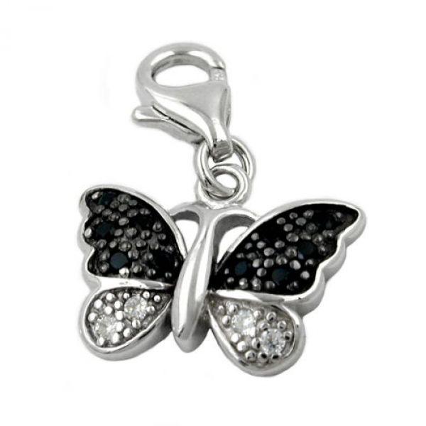 Anhänger Charm Schmetterling, Silber 925