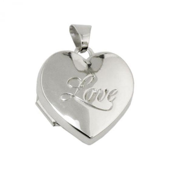 Anhänger Medaillon - Love - Silber 925
