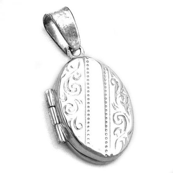 Anhänger Medaillon mit Muster Silber 925