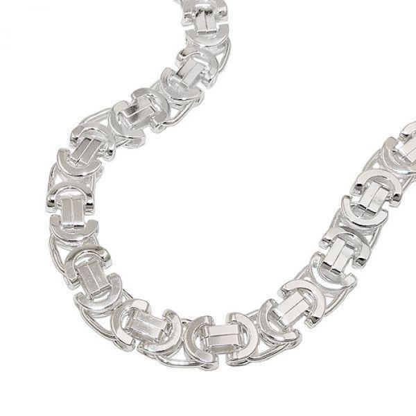 Armband, 6x2mm Königskette, Silber 925