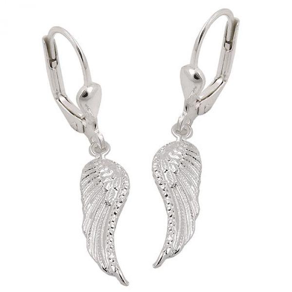 Brisur, Flügel, glänzend, Silber 925