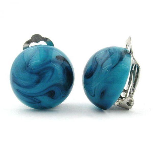 Clip, 18mm, türkis-blau-marmoriert
