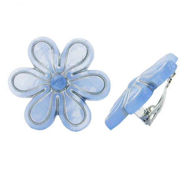 Clip, Blüte, hellblau-matt