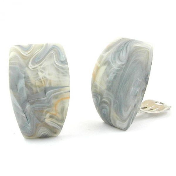 Clip, Trapez, grau-beige-marmor-matt