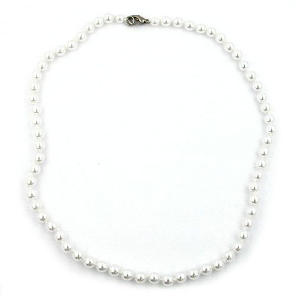 Collier, 60, Glasperlen WW, geknotet 60cm