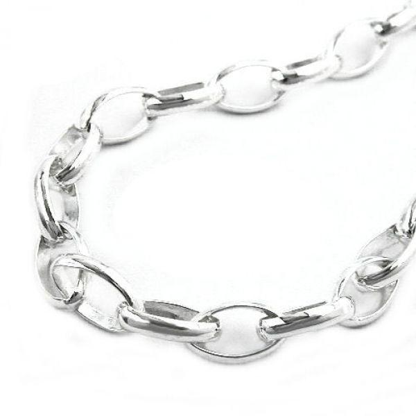 Collier, Ankerkette oval, Silber 925 70cm