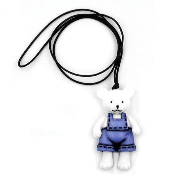 Collier, Eisbär, Hose jeansblau-schwarz 90cm