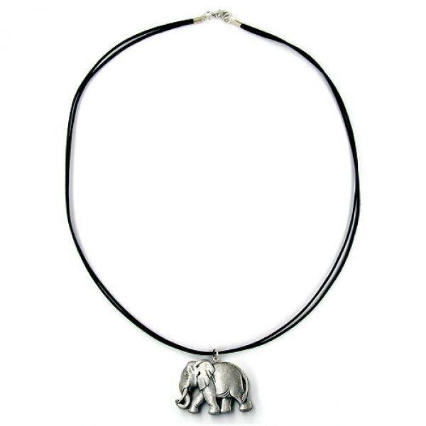 Collier, kleiner Elefant, altsilber 50cm