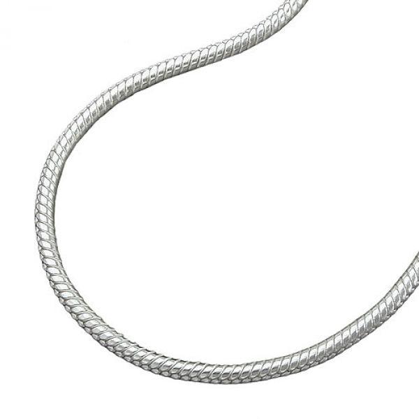 Collier, Schlange 1,5mm rund Silber 925 80cm