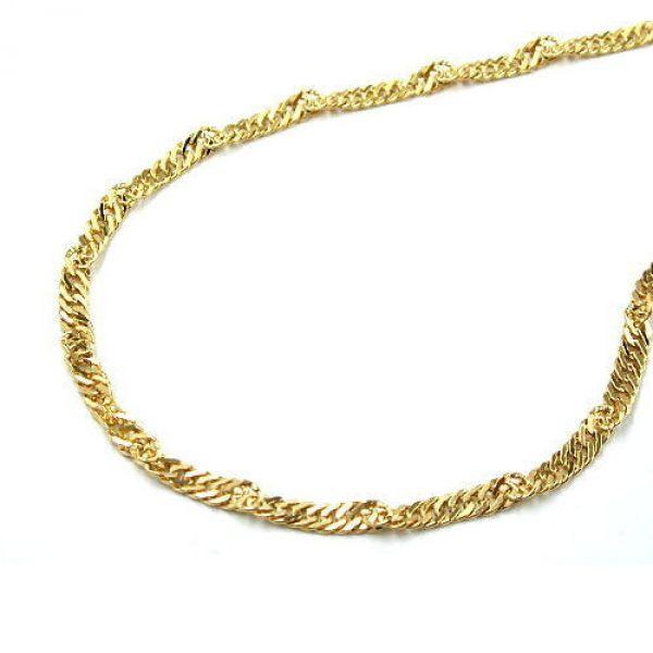 Collier, Singapurkette 38cm, 9Kt GOLD 38cm