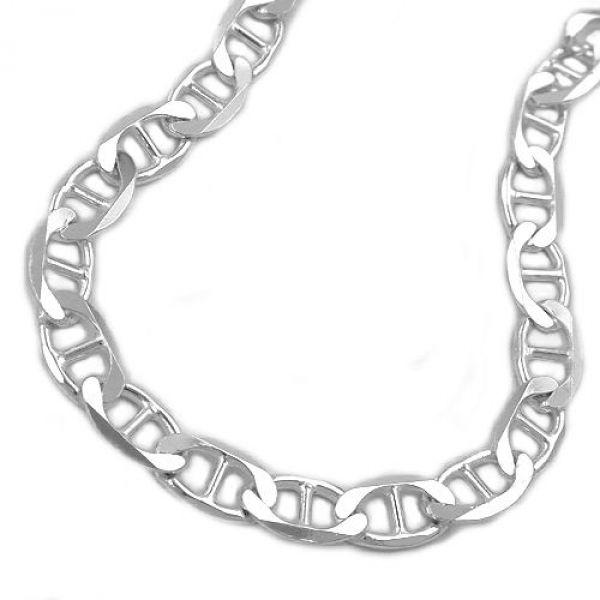 Collier, Stegpanzer 6x diamantiert, 925 42cm